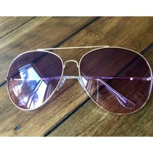 Accessories - Aviator Purple Ombré Sunglasses